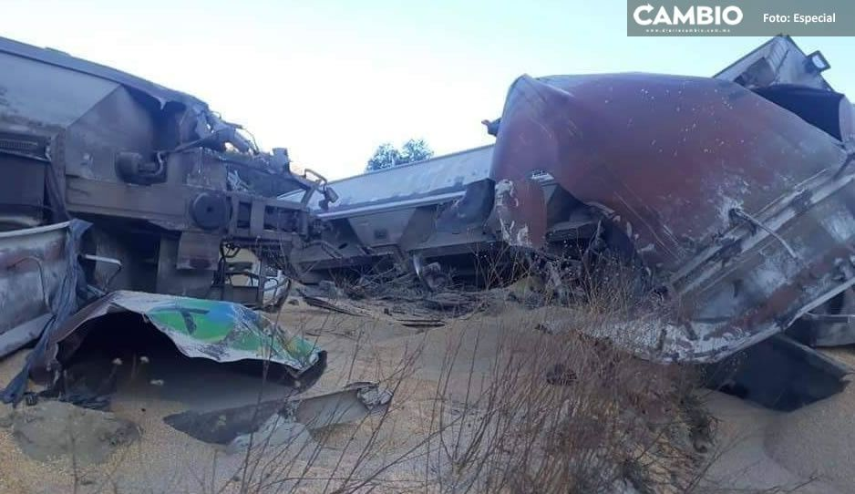 FOTOS: Se descarrila tren de FerroMex en Cañada Morelos