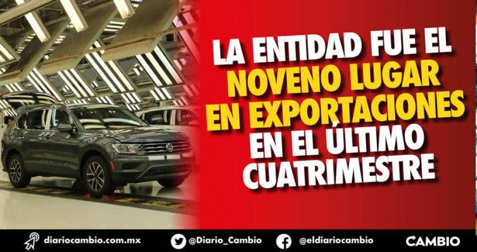 Puebla exportó lo doble al cierre de 2020, que en 2019 cuando no había pandemia