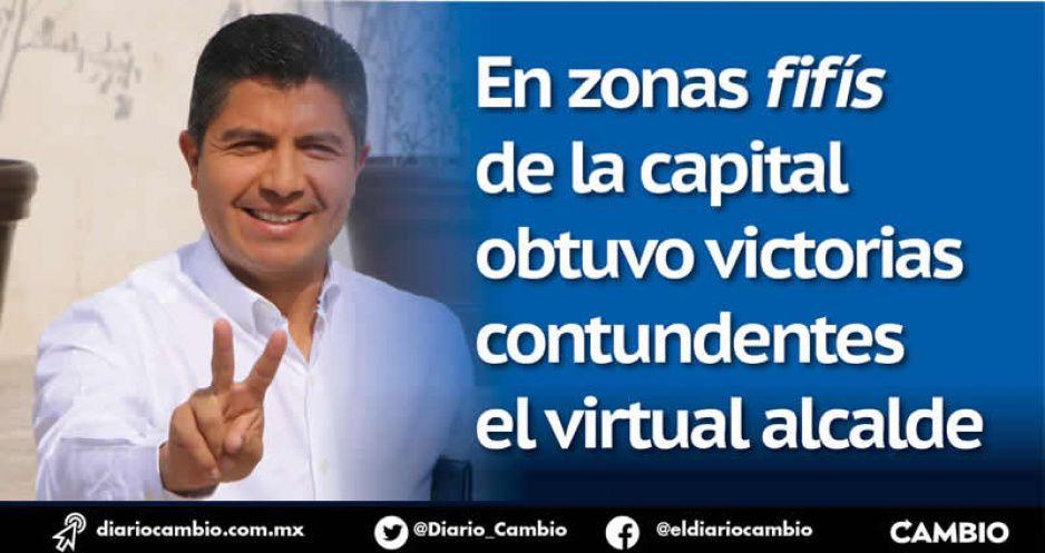 Lalo ganó en colonias como El Mirador y La Paz y Claudia en Azumiatla y Xonacatepec