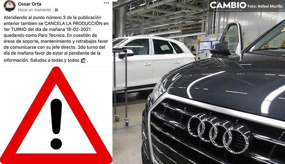 Desabasto de gas detiene la producción en Audi y Volkswagen