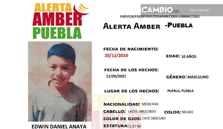 Activan Alerta Amber por Edwin Daniel, tan sólo tiene 10 años y desapareció en colonia 15 de Septiembre