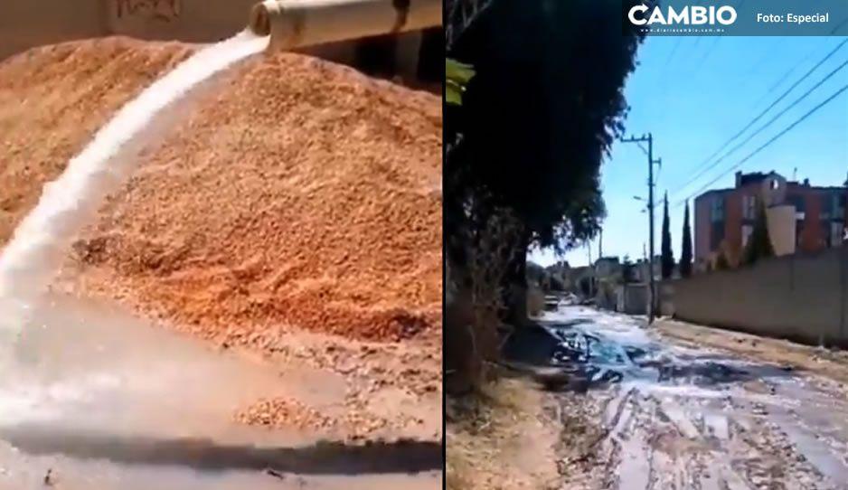 VIDEO: Solicitan apoyo de SOSAPAC para controlar fuga de agua en Villas Alcanfores