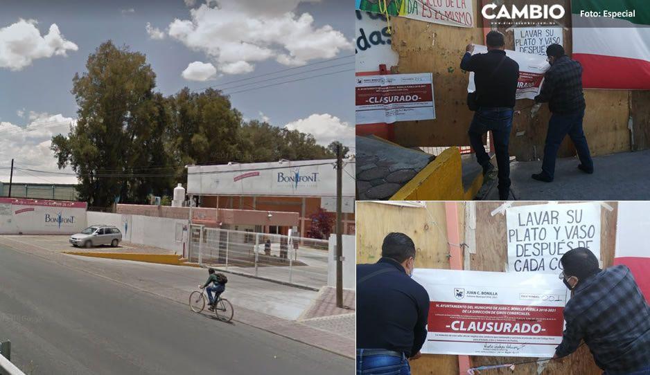 Clausuran Bonafont en Juan C. Bonilla; habitantes reclamaban mal uso del agua