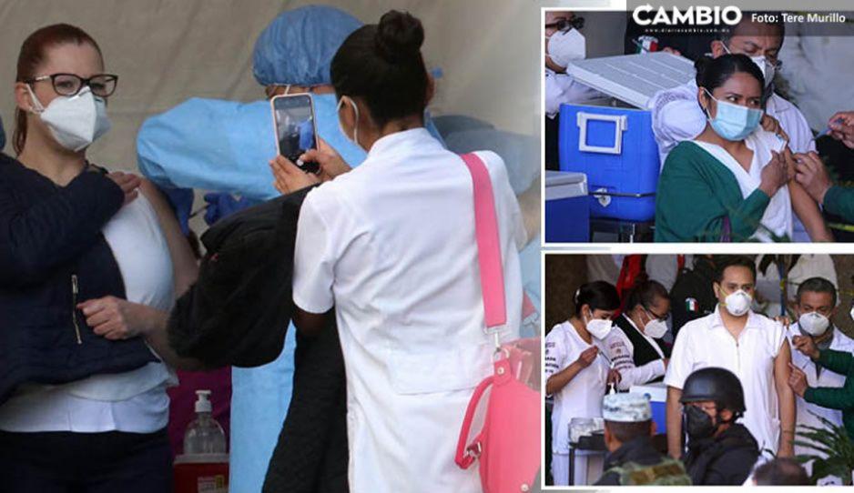 Ejército blanco ya está protegido vs COVID: Inmunizado el 100 %  en Puebla