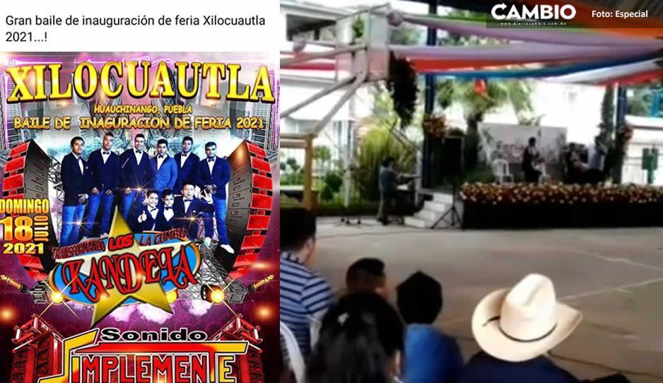 ¡Con mega baile! Celebran a Santiago Apóstol en Xilocuautla pese a tercera ola COVID