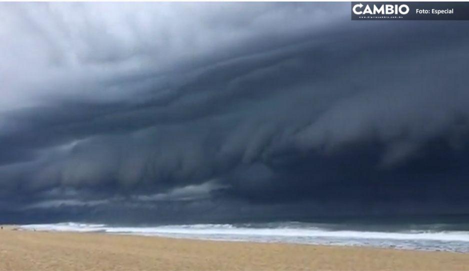Olaf baja a huracán categoría 2; seguirán las fuertes lluvias