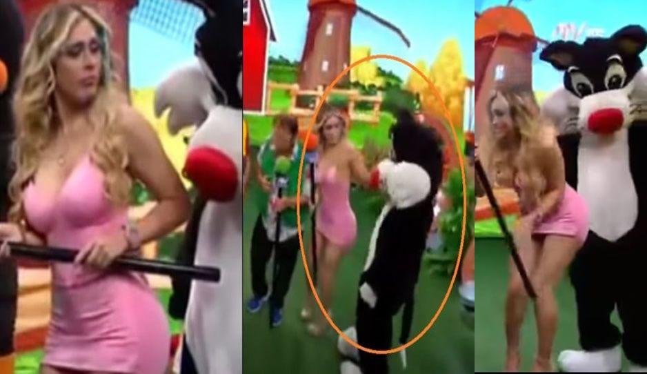 Botarga acosadora: acusan a Silvestre de embarrarse en conductora de TV (VIDEO)