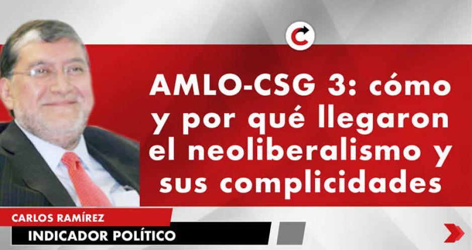 AMLO-CSG 3: cómo y por qué llegaron el neoliberalismo y sus complicidades