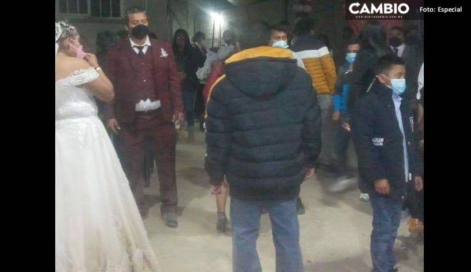 ¡Se acabó la fiesta! Suspenden CoviBoda en Quecholac por desacato sanitario