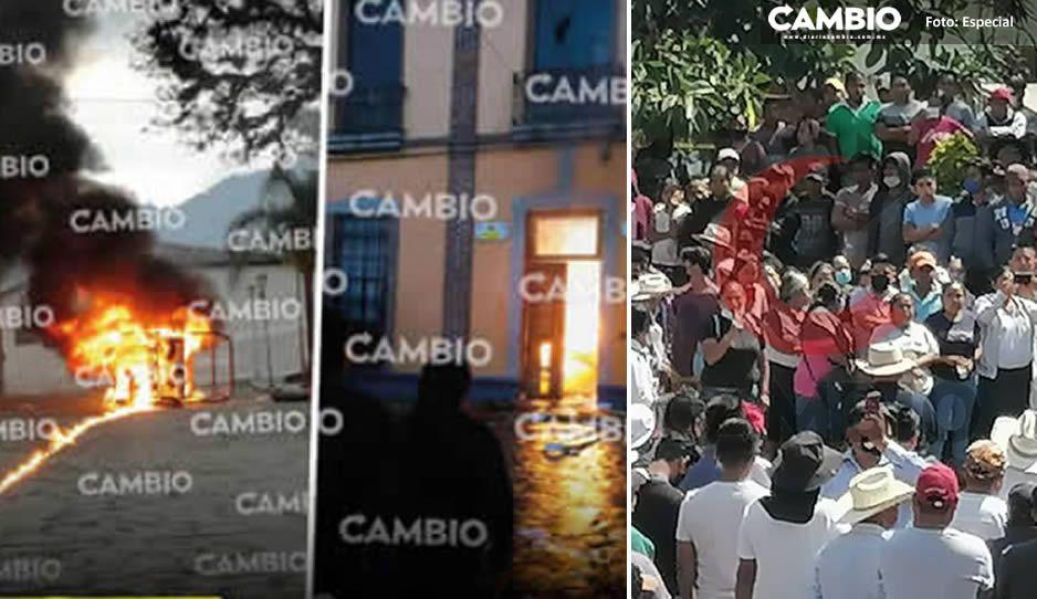 Liberan presidencia de Pahuatlán a una semana de violentas protestas; pactan acuerdo