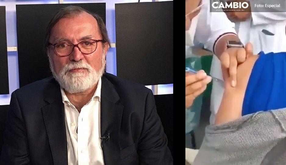 Epigmenio Ibarra acusa de montaje a la CIA por falsa vacuna en Zacatenco