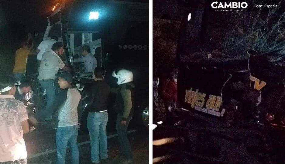 VIDEO: Trágica carambola en autopista México-Puebla deja un prensado y varios lesionados