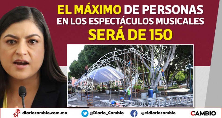 Claudia dará acceso a 440 poblanos masoquistas para escucharla gritar en el Zócalo (FOTOS Y VIDEO)