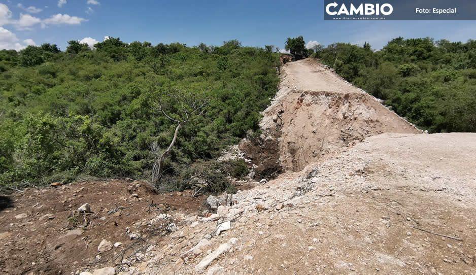 Ejidatarios de Huaquechula piden apoyo para reconstruir puente que se llevó el Río Nexapa