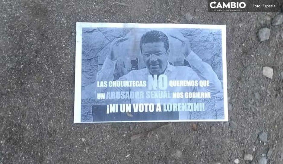 ¡A un día de las elecciones! Cholultecas piden no votar por Lorenzini; lo llaman golpeador y abusador