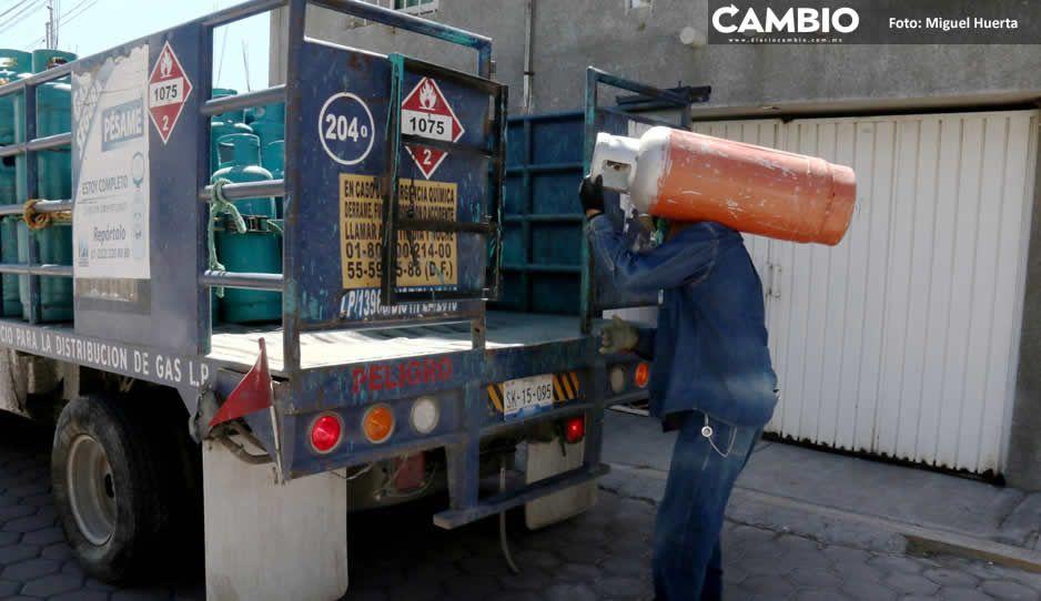 Precios del gas LP en Puebla aumentan pese a regulaciones del Gobierno federal
