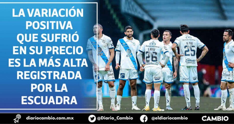 Club Puebla eleva su valor 5 millones de euros por la buena campaña que lleva