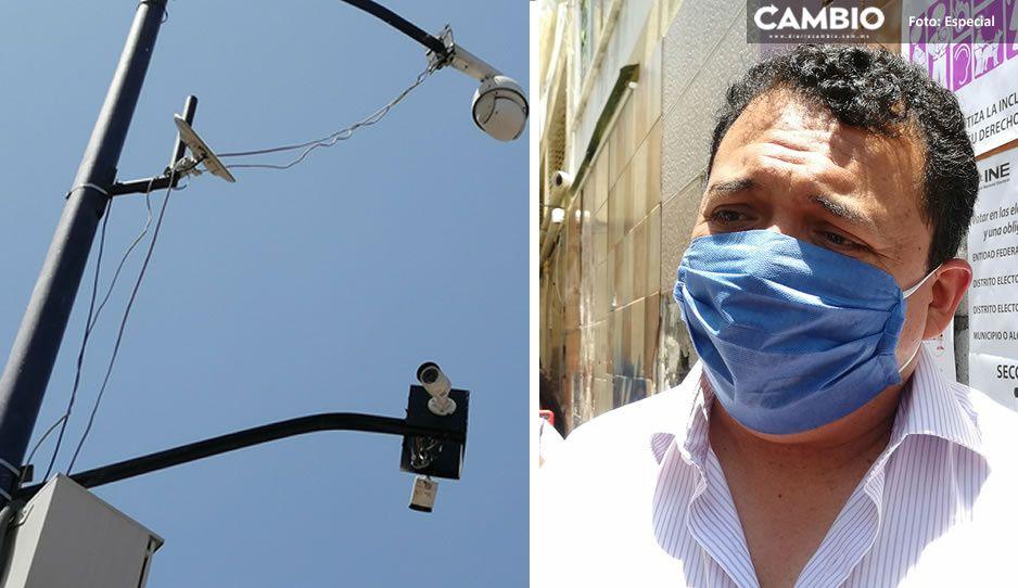 Artemio Caballero destinará 12 millones de pesos para arreglar cámaras de vigilancia