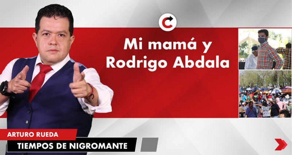 Mi mamá y Rodrigo Abdala