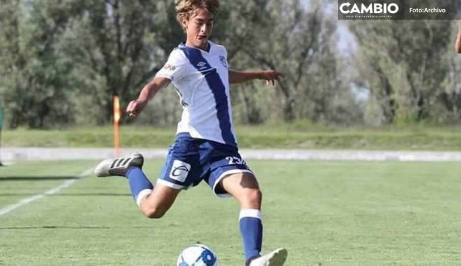Emiliano García, primer canterano de La Franja en marca un gol en la UEFA Youth League