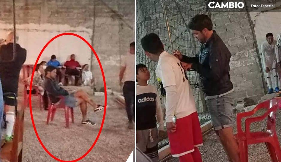 Larcamón puede ser suspendido tras asistir a partido amateur en Cholula
