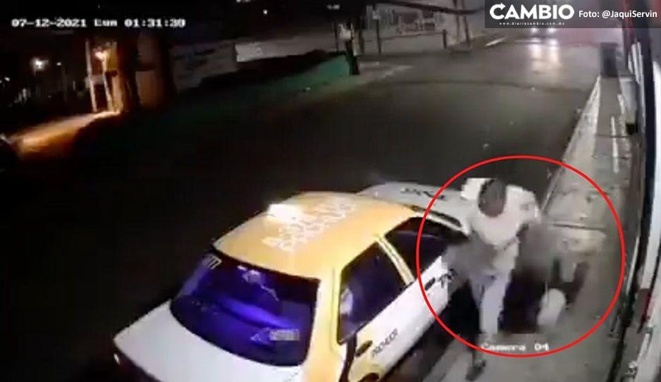 ¡Gandalla, poco hombre! Exhiben VIDEO de taxista golpeando a mujer