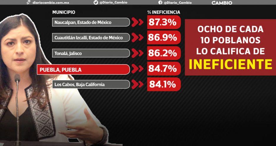 Gobierno de Claudia, el cuarto peor de todo el país: ENSU Inegi