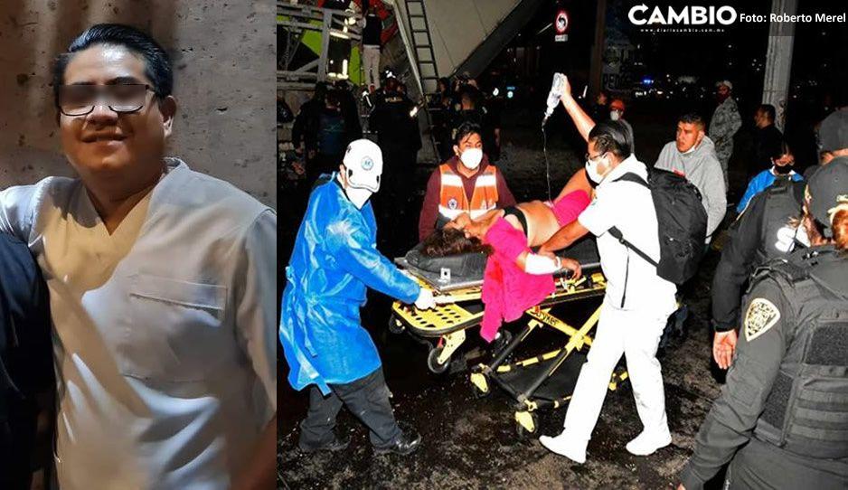 Enfermero de día, héroe de noche: Omar Peralta ayudó a heridos tras desplome del Metro