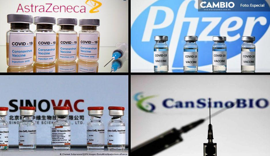 Pfizer, CanSino, Sinovac y AstraZeneca, las marcas que aplicarán a la chaviza en los 102 municipios poblanos