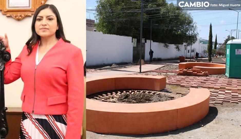 ¡En lo oscurito! Así inauguró Claudia el parque Barrio en la colonia México 83