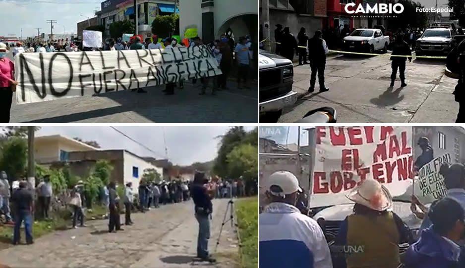 ¡Tensión en Puebla! 12 municipios con protestas y confrontaciones ante los recuentos de votos (VIDEO)