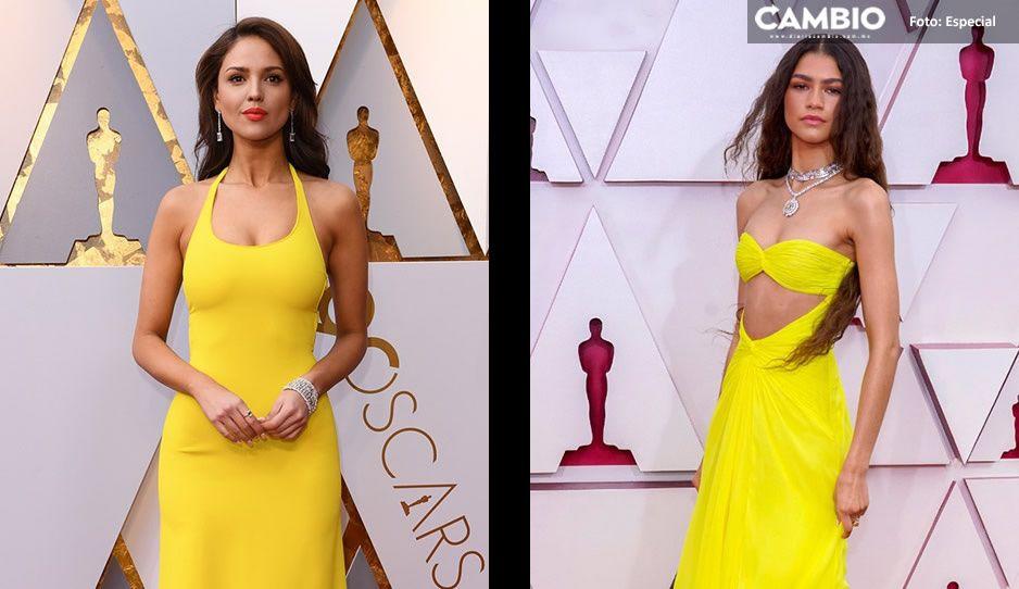 Zendaya luce vestido amarillo en Premios Oscar 2021 y reviven las críticas a Eiza González
