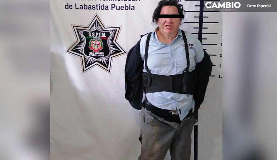 Policías municipales detienen a presunto homicida de madre e hijo en Texmelucan