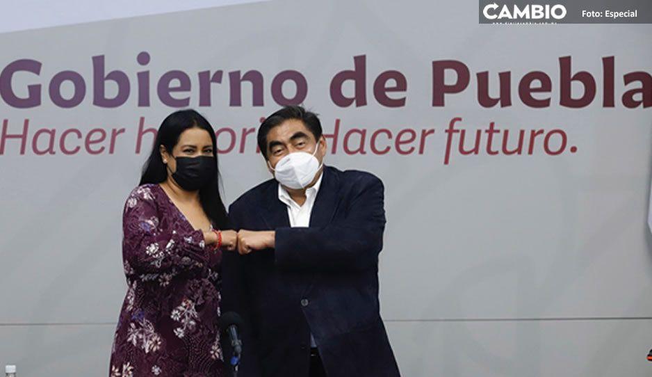Irene Olea se reúne con el Gobernador Miguel Barbosa