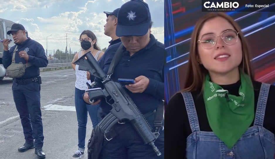 Minutos de terror pasó la activista Estefanía Veloz tras ser detenida en Puebla
