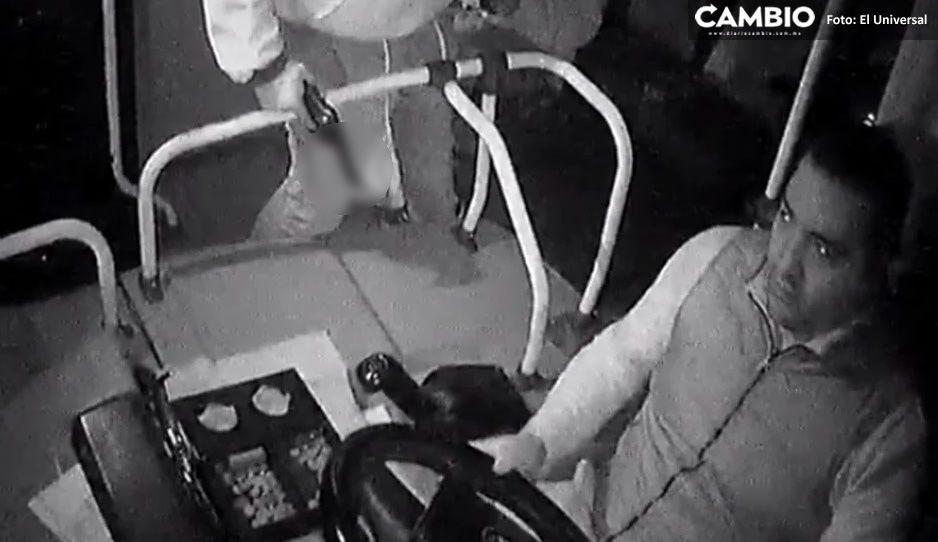 VIDEO: Con disparos atracan autobús en Edomex, pasajeros y chofer estaban aterrorizados