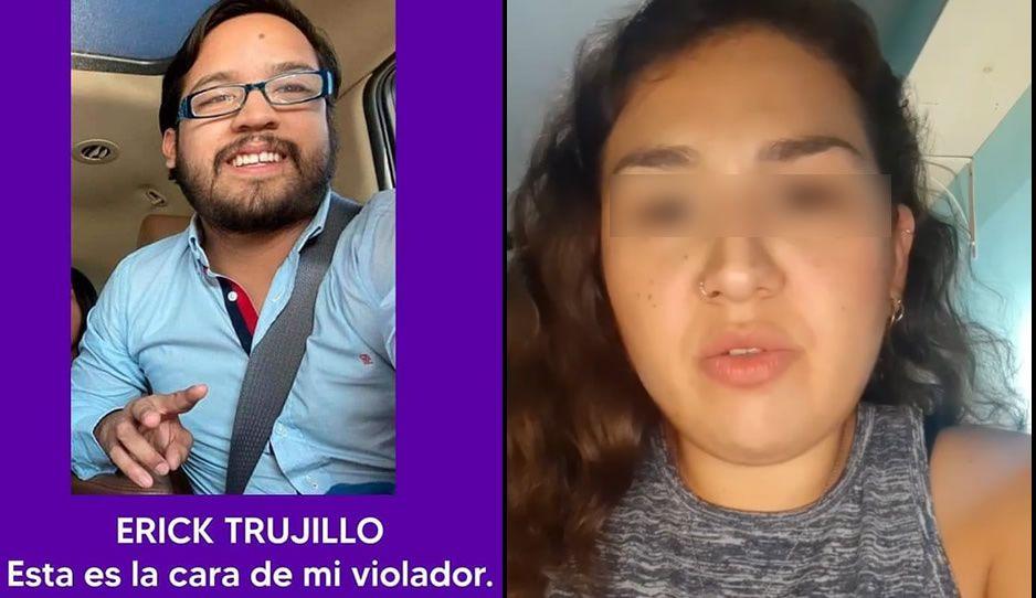 """VIDEO: Ana levanta la voz y exhibe al violador poblano Erick Trujillo """"El Chawis"""""""