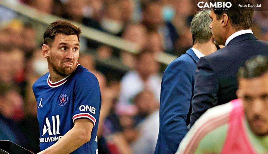 Así fue la reacción de Messi tras ser sustituido en su debut con PSG (VIDEO)