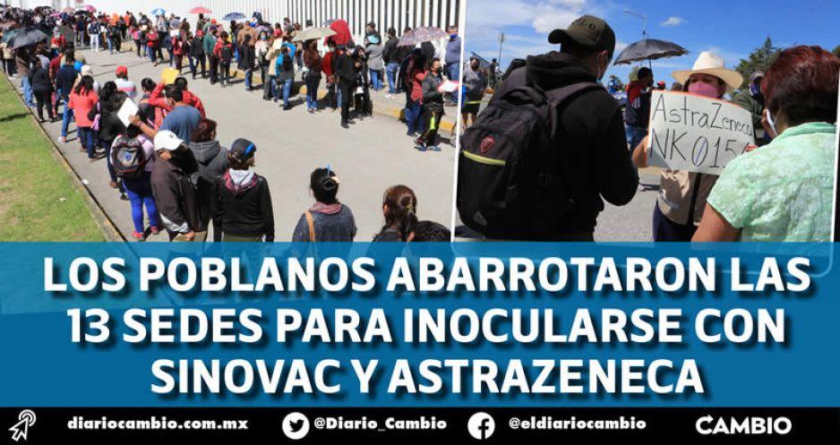 Comienza aplicación de segundas dosis en la capital entre tumultos y reclamos (FOTOS Y VIDEOS)