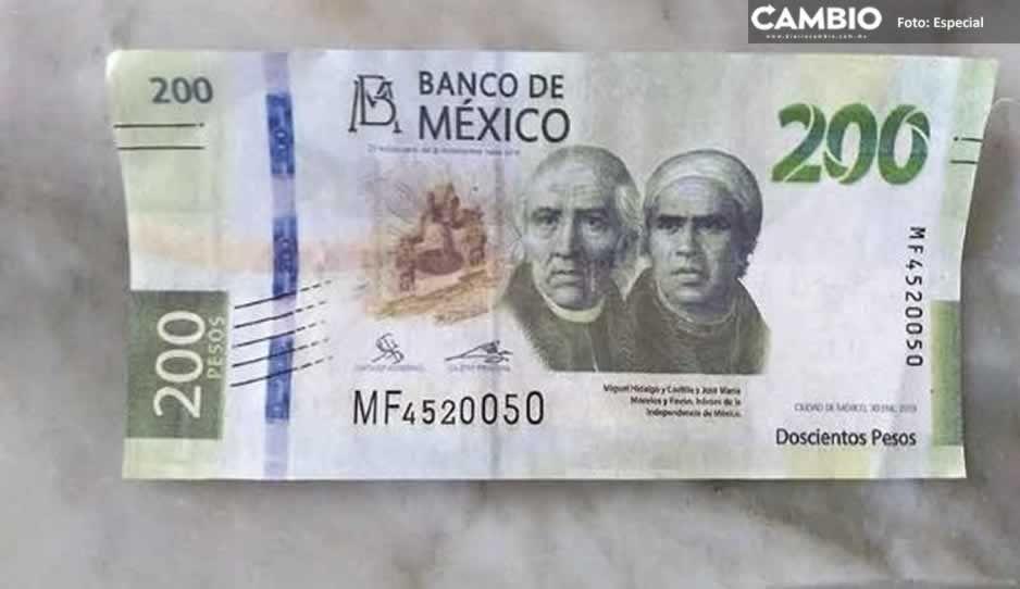 Ofrecen 2 mil pesos semanales por distribuir billetes falsos de 200 y 500 en Izúcar