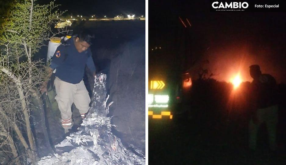 Fuerte incendio forestal se registra en cerro de Lomas de Romero y Techachales