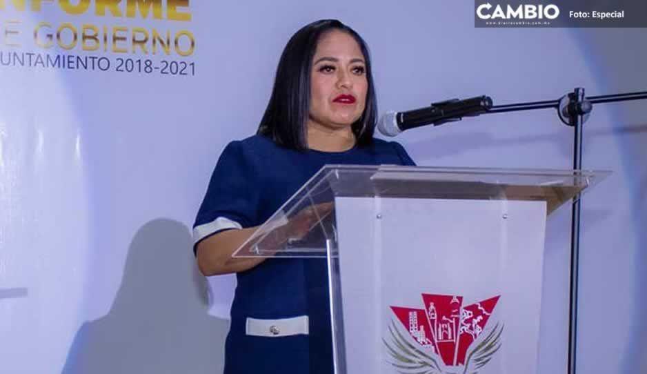 Rinde Lupita Daniel Tercer Informe de labores en Cuautlancingo