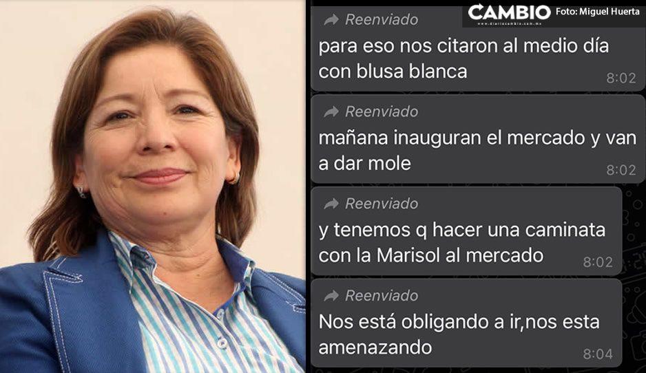 Marisol Cruz cierra su gestión obligando a su personal a ir a la inauguración de su mercado