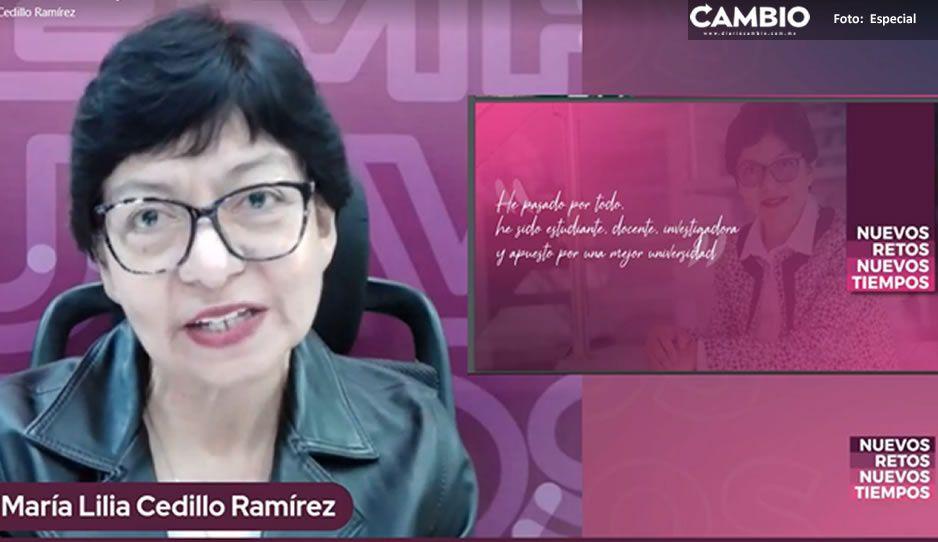 Lilia Cedillo propone programa de inclusión en infraestructura en la BUAP(VIDEO)