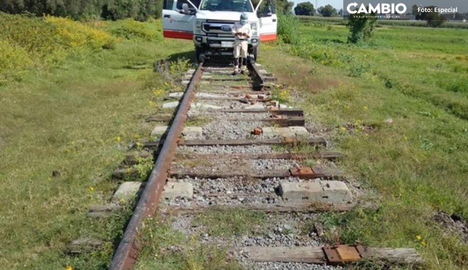 No respetan nada; reportan robo de 10 a 30 metros de vías del tren en Huejotzingo y Texmelucan