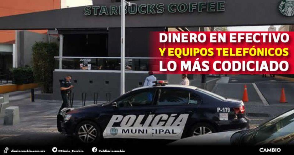 Starbucks y Elektra, establecimientos favoritos de la delincuencia en Puebla