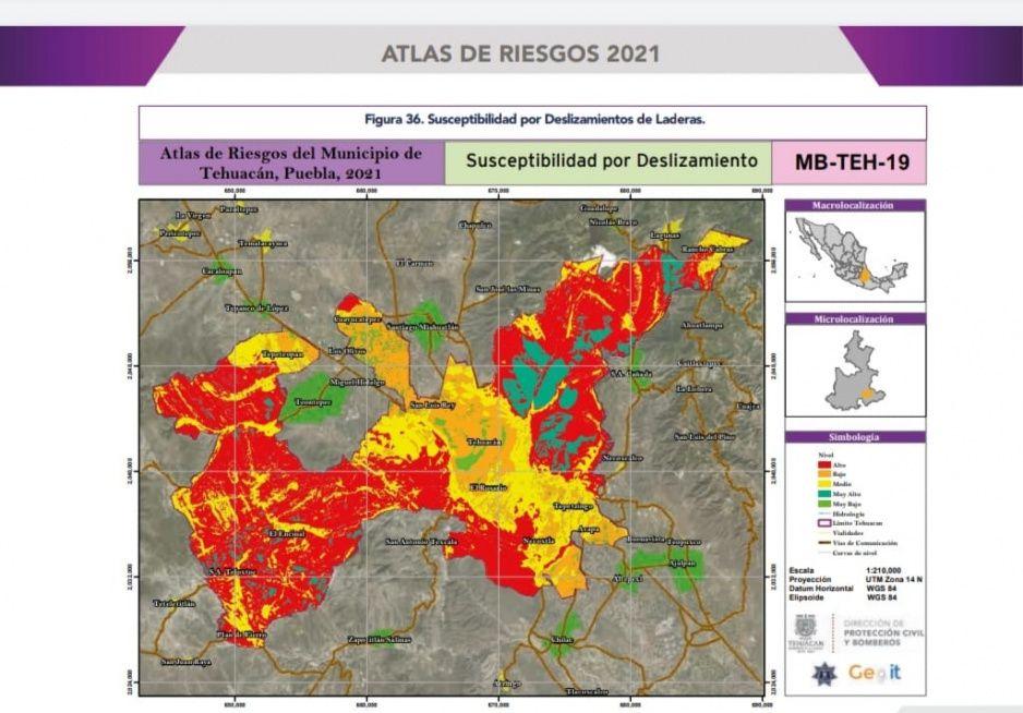 Tehuacán actualiza su Atlas de Riesgos después de 9 años