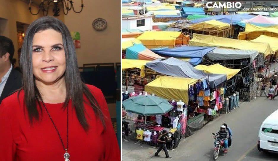 Norma Layón anuncia reapertura del tianguis de Texmelucan con acceso controlado