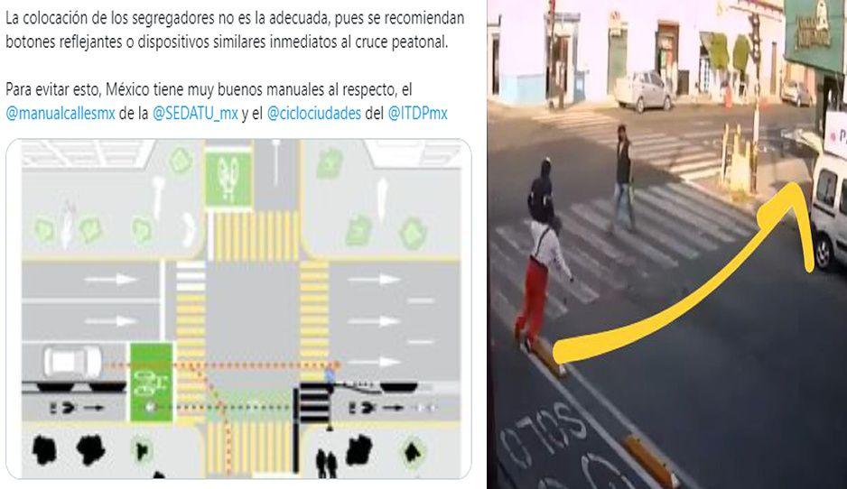 Los poblanos NO somos culpables: análisis demuestra que Claudia cometió errores en la ciclopista