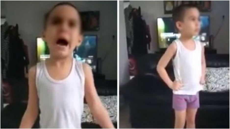 Niño desesperado por el confinamiento, enfurece por las clases en línea (VIDEO)